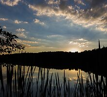 Peters Lake Sunset by vos07