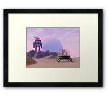 Toy Moon Walker Scene Framed Print