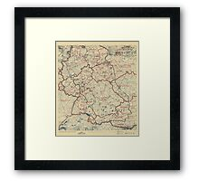 June 28 1945 World War II Twelfth Army Group Situation Map Framed Print