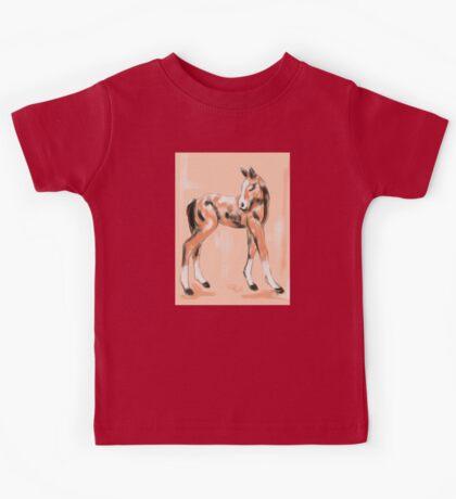 Foal Peach Kids Tee