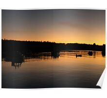 Sunset in Maine Poster