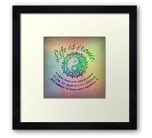 Life is ironic Framed Print