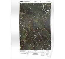 USGS Topo Map Washington State WA Finney Peak 20110425 TM Poster