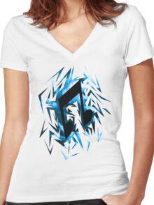 DJ-Pon3 Cutiemark Shards Women's Fitted V-Neck T-Shirt