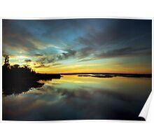 Sunset #1. Lake Gentry Poster