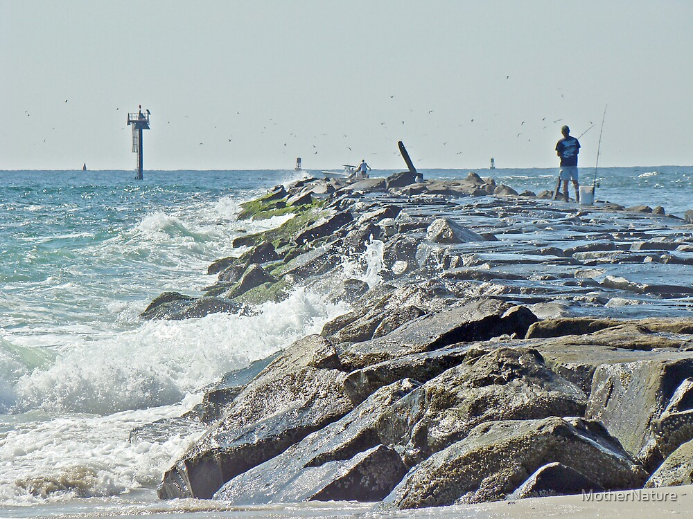 Fishing the Jetty - Island Beach State Park   NJ by MotherNature