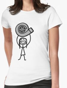Turbo girl 2 Womens Fitted T-Shirt