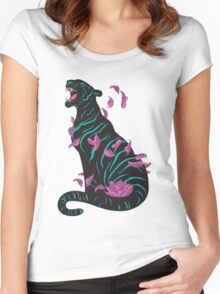 Black tiger Women's Fitted Scoop T-Shirt