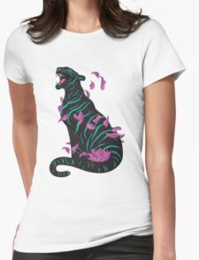 Black tiger Womens Fitted T-Shirt