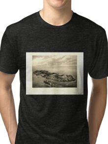 Panoramic Maps Monhegan Me Tri-blend T-Shirt