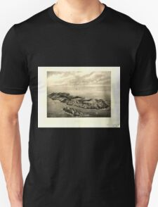 Panoramic Maps Monhegan Me Unisex T-Shirt