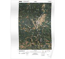 USGS Topo Map Washington State WA Pe Ell 20110406 TM Poster