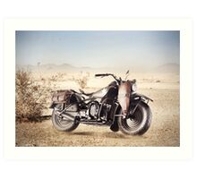 Military Motorcycle Art Print