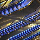 Blue Escalators by biddumy