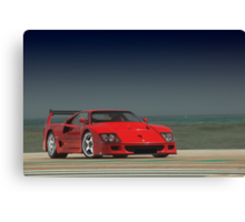 Ferrari F40 LM Michelotto Canvas Print