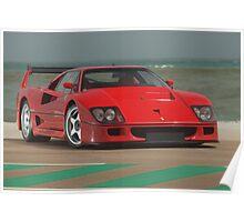 Ferrari F40 LM Michelotto Poster