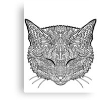 Manx Cat - Complicated Coloring Canvas Print