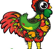 Famous Rooster #08 by Silvia Neto
