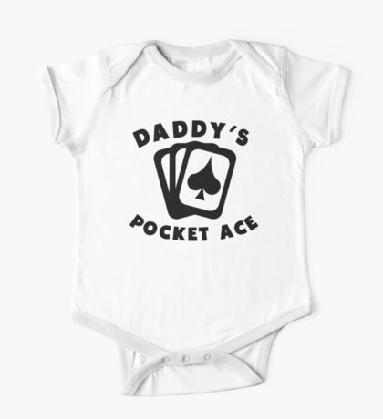 Daddy's Pocket Ace One Piece - Short Sleeve