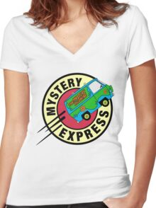 The Mystery Express Women's Fitted V-Neck T-Shirt