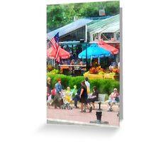 Strolling Around Inner Harbor Baltimore Greeting Card