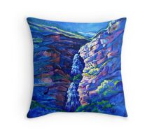 First Light at Bridal Veil Falls Throw Pillow