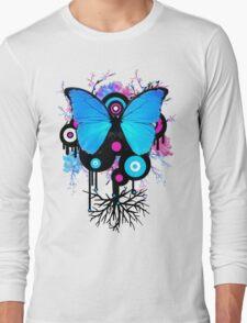 Butterflies and Alien Friends Long Sleeve T-Shirt
