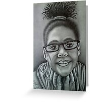 """Jayden Wearing Daddy's Glasses"" Greeting Card"