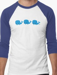 Whale Whale Whale (Light Text) Men's Baseball ¾ T-Shirt