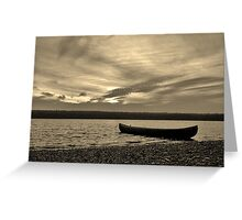 Quiet Canoe Greeting Card