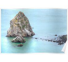 On the Rocks - San Francisco California Poster