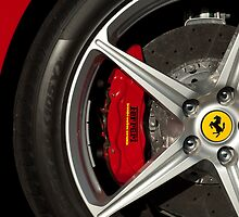 Ferrari Wheel and Emblem 2 by Jill Reger