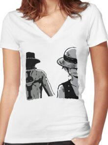 Brothers to the end Women's Fitted V-Neck T-Shirt