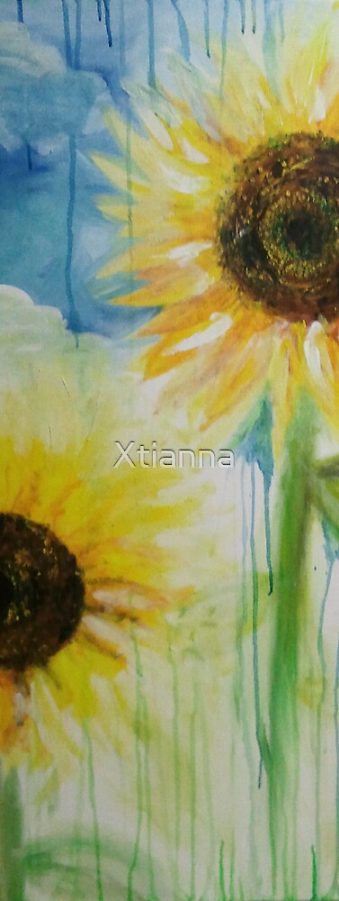 Abstract Sunflowers by Xtianna