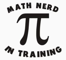 Math Nerd In Training Kids Tee