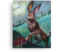 Rabbit Under the Moon Canvas Print