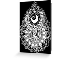 Luna Owl Mandala  Greeting Card