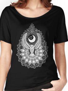 Luna Owl Mandala  Women's Relaxed Fit T-Shirt