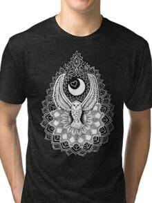 Luna Owl Mandala  Tri-blend T-Shirt