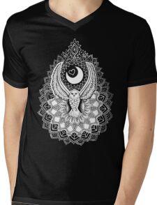 Luna Owl Mandala  Mens V-Neck T-Shirt