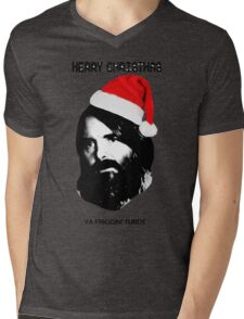 MERRY CHRISTMAS YA FRIGGIN TURDS Phil Miller Tandy Last Man On Earth Mens V-Neck T-Shirt