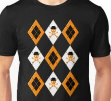 Orange Argyle Clockwork Unisex T-Shirt