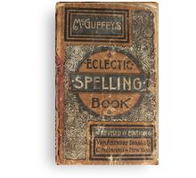 Eclectic Spelling Book Canvas Print