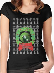 Black Christmas Women's Fitted Scoop T-Shirt