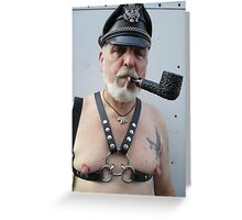 Leather Sir Greeting Card