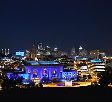 Kansas City Union Station in Blue by Catherine Sherman