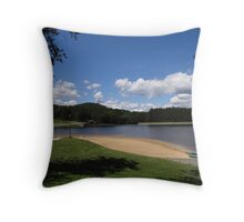 At the beach today Throw Pillow
