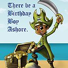 """Pirate Boy Birthday Card"" (blank inside) by treasured-gift"