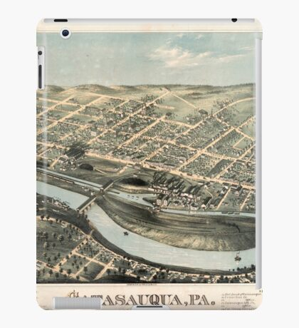 Panoramic Maps Catasauqua Pa iPad Case/Skin