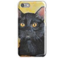 Reflections on a Black Cat iPhone Case/Skin
